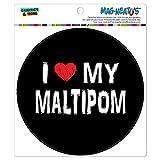 Graphics and More I Love My Maltipom Stylish MAG-NEATO'S(TM) Automotive Car Refrigerator Locker Vinyl Magnet