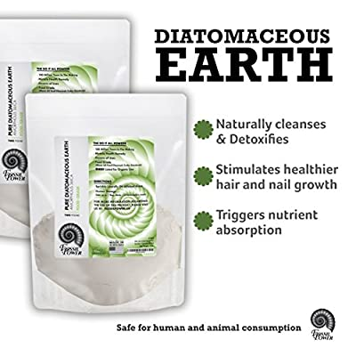 """Fossil Power Diatomaceous Earth (1 Lb), Food-grade, for Dusters, Getting Rid of Bed Bugs, Fleas, Ticks and More, Used As a Health Remedy Due to High Amount of Silica (89%). Product label may vary. May contain the previous brand name """"Silk Road"""""""