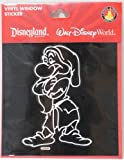 Disney Snow White's Grumpy Vinyl Auto Decal- Disney Theme Parks Exclusive Limited Avaliability