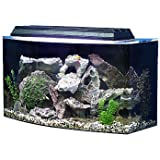 """SeaClear 36 gal Bowfront Acrylic Aquarium Combo Set, 30 by 15 by 21"""", Black"""