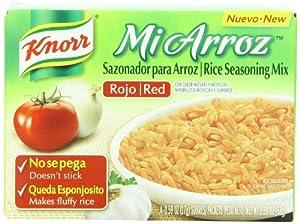 Knorr Mi Arroz Rice Seasoning Mix, Red, 0.23 Pound (Pack of 24)