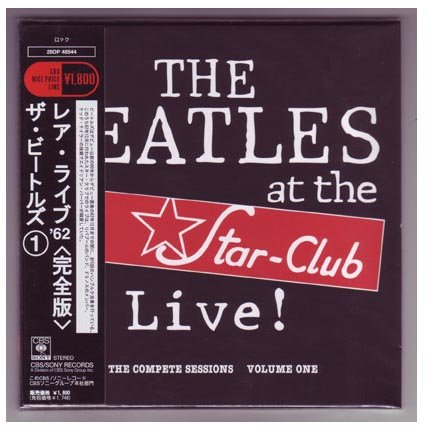 BEATLES Live At Star-Club 1962 vol.1 - Audio Cd MLPS [Mini Long Play Sleeve] Japanese Mini-LP Replica Audio CD by BEATLES