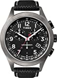 Timex Men's Quartz Watch with Black Dial Analogue Display and Black Leather Strap T2N390AU