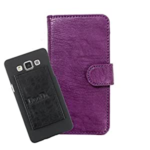 DooDa PU Leather Wallet Flip Case Cover With Card & ID Slots For LG G Vista 2 - Back Cover Not Included Peel And Paste