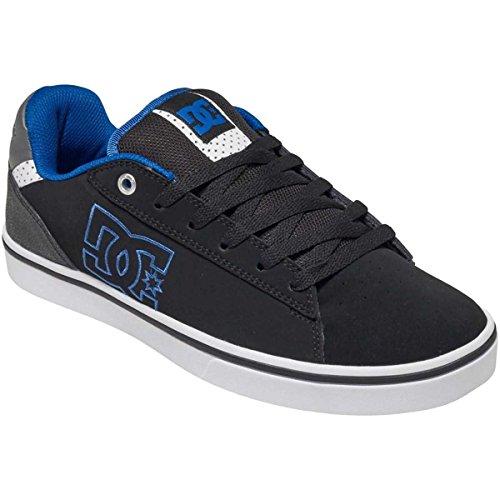 DC Men's Notch Skate Shoe, Black/Blue, 9 M US