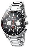 ellesse (エレッセ) 腕時計 SPORTIVO531クロノグラフ 03-0378-502 ブラック×レッド