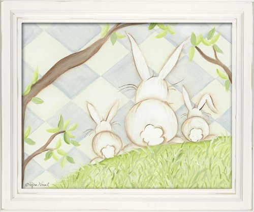 "Doodlefish Framed 18'x15"" Wall Art, Bunny Blue Diamond"
