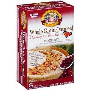 Whole grain instant oatmeal