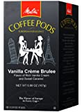 Melitta Coffee Pods, Vanilla Creme Brulee Flavored Coffee, Medium Roast, 18-Count, 5.89 oz (Pack of 4)