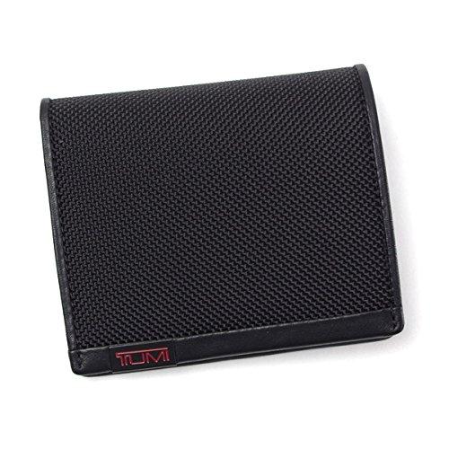 トゥミ TUMI ALPHA SLG スリムフォールド・ウォレット パスケース付き二つ折り財布 19238 ブラック 並行輸入品