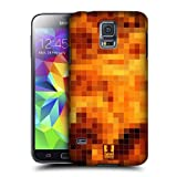 Head Case Designs Fire Pixel Patterns Protective Snap-on Hard Back Case Cover for Samsung Galaxy S5