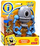 Imaginext, SpongeBob Square Pants Exclusive Figures, Plankton and Chumbot, 2-Pack