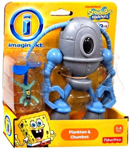 Imaginext, SpongeBob Squarepants, Plankton and Chumbot Exclusive Action Figures