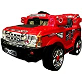 NEW DESIGN KIDS RIDE ON 12V TWIN MOTORS RED RECHARGEABLE JEEP + PARENTAL REMOTE CONTROL AND MP3 INPUT + digital battery capacity meter+ fast/low speed option. (JEEP-red/12v)