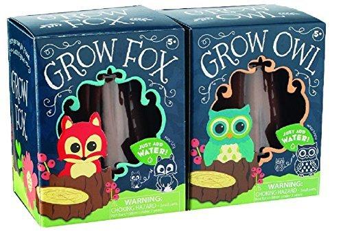 toysmith-grow-fox-owl-set