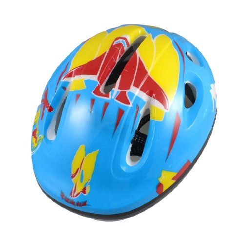 Como Adults Blue Yellow Skateboard Bicycle Bike Cycling Skating Foam Helmet