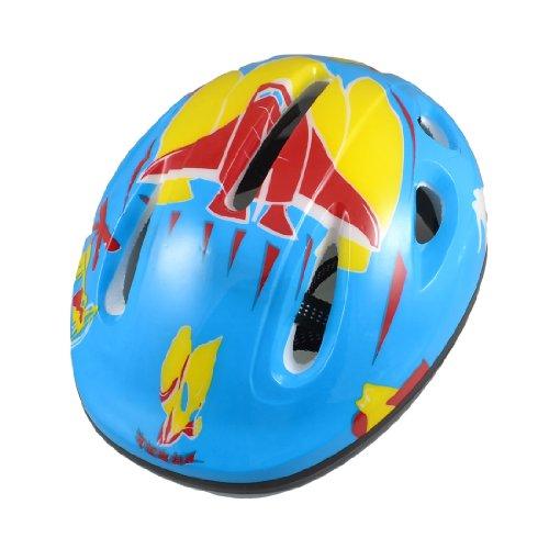 Como Adults Blue Yellow Skateboard Bicycle Bike Cycling Skating Foam Helmet