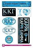 Kappa Kappa Gamma Sticker Sheet - Tie Dye Theme. 8.5
