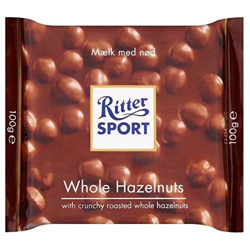 Ritter Sport Milk Chocolate Bar - Whole Hazelnuts (100g)