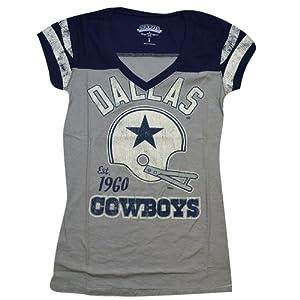 Dallas Cowboys Ladies Nostalgia T-Shirt by Dallas Cowboys