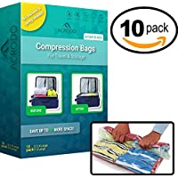 10-Packs Acrodo Space Saver Rolling Bags for Packing and Storage