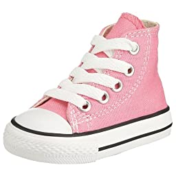 Converse Kids Unisex Chuck Taylor All Star Core Hi (Infant/Toddler) Pink Sneaker 5 Toddler M
