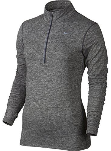 Nike Women's Dri-FIT? Element Half Zip Dark Grey/Heather/Reflective Silver T-Shirt MD