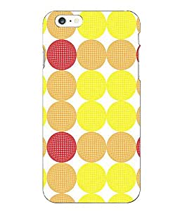 Make My Print Printed Multicolor Hard Back Cover For Iphone 6 Plus