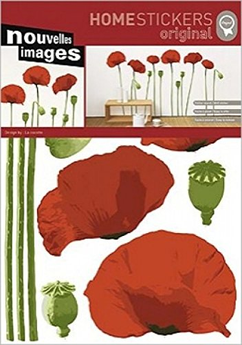 1art1-Sticker-mural-La-Cocotte-Coquelicots-70-x-50-cm