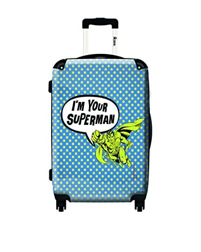 Ikase Superman Yellow Rolling Luggage , Multi, 10X16X24 As You See
