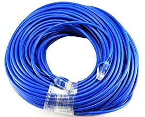 2ft CAT5e Ethernet Network LAN Patch Cable Cord 350 MHz RJ45 Blue 50 Pack Lot