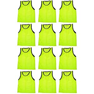 BlueDot Trading Adult Sports Pinnies High Quality Scrimmage Training Vests (12-Pack),... by Bluedot Trading
