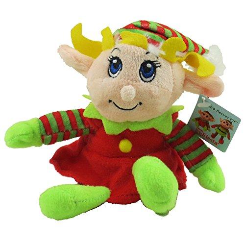 "Fiesta Toys 6"" Plush Santa's Secret Elf Girl"