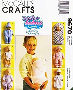McCall's Crafts Pattern 9670 ~ Water Babies Newborn Jennifer