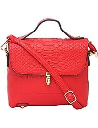 ESBEDA Red Color Pu Synthetic Handbag For Womens (160612_1553)