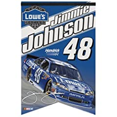 Jimmie Johnson Premium Felt Banner 17x26 by Nascar
