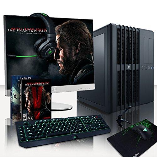 vibox legend paquet 24 4 4ghz watercooling gamer gaming pc ordinateur de bureau avec ecran. Black Bedroom Furniture Sets. Home Design Ideas