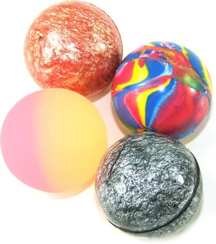 15 X Mixed Colour Jet Bouncy Balls T27100 By Henbrandt