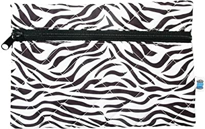 Cheapest Quilted Cosmetic Bag - Zebra - By Threadart from Threadart - Free Shipping Available