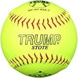 Trump® MP-RP-ASA-Y MP Series 12 Inch Red Stitch Yellow Premium Grade Leather Softball with ASA Stamp (Sold in Dozens)