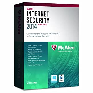 McAfee Internet Security Dual Protection for MAC and Windows 2014 - 1 User (PC/Mac)