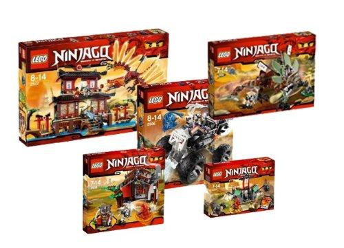 Lego Ninjago 2254 2506 2507 2508 2509 Fire Temple Super Set Lego
