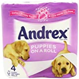 Andrex Puppies on a Roll Toilet Tissue 210 Sheets - 4 x Pack of 10
