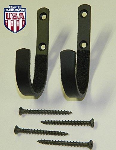 Best Price! Gun Rack Shotgun Hooks Rifle Hangers Archery Bow Felt Lined Wall Mount Storage (Handmade...