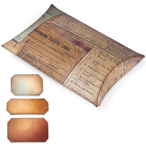 Sizzix Movers/Shapers Large Base Die By Tim Holtz-Pillow Box -Labels