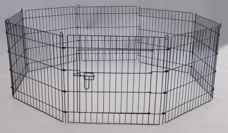 Dog Puppy Pet Rabbit Guinea Pig Play Pen Run Cage 8 panel 76cm x 61cm (30inches)