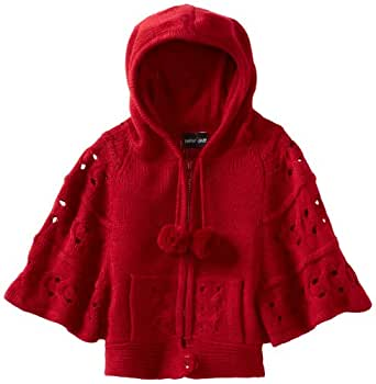 2 Hip By Wrapper Big Girls' Hooded Sweater, Brick Red, 12 Large