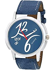 IZOR Blue Dial Analogue Casual Wear Stylish Watch For Men & Boys- IZWA2004