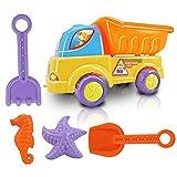 iHome&iLife 5-Piezas pequeño mundo del juguete de la arena,agua,playa de los niños conjunto camión volquete de Sand Castle Moldes Juega Arenero