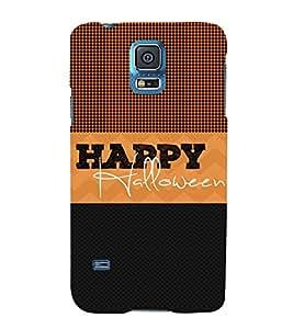 Happy Halloween 3D Hard Polycarbonate Designer Back Case Cover for Samsung Galaxy S5 G900i :: Samsung Galaxy S5 i9600 :: Samsung Galaxy S5 G900F